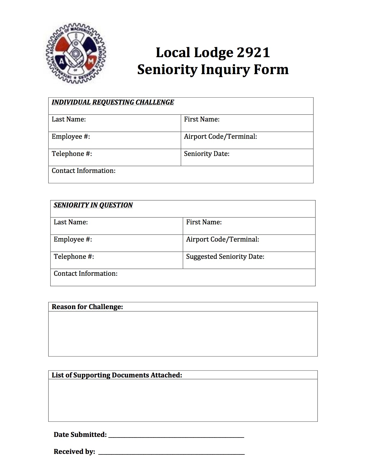 Seniority Inquiry Form- 2016